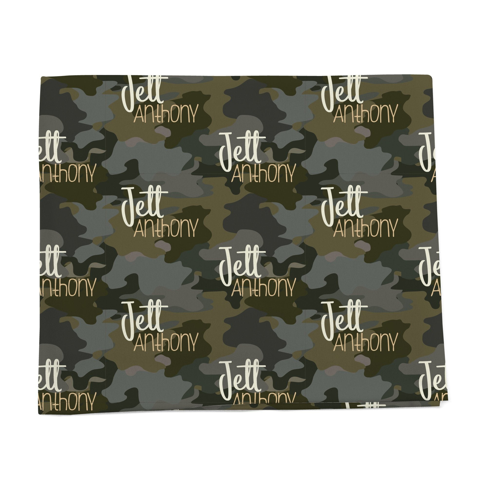 Woodland Camo personalized baby blanket