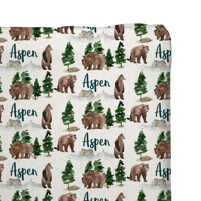 Aspen's Brown Bear | Changing Pad Cover