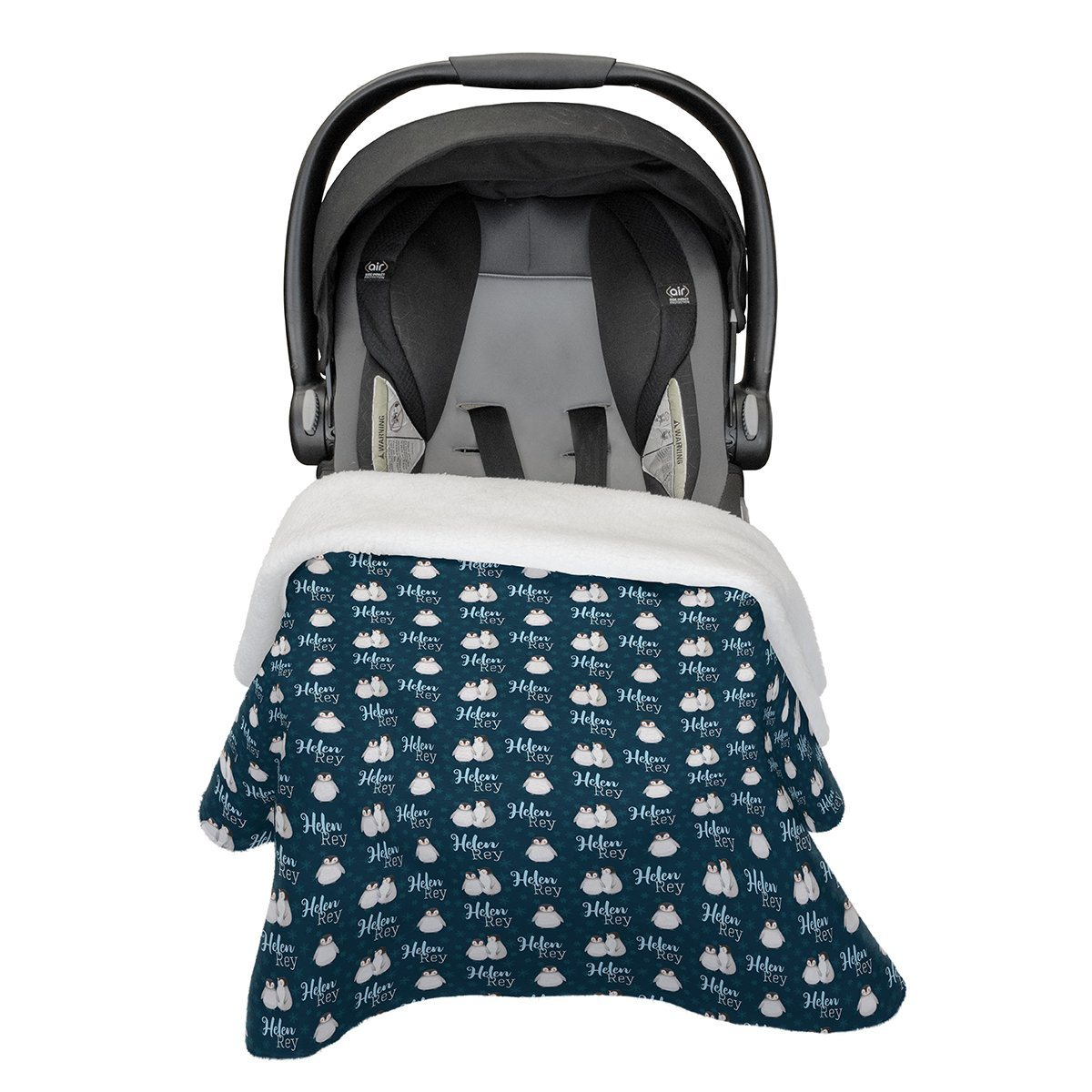 Bailey's Winter Penguins | Car Seat Blanket