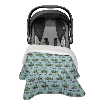 Bayou's Deep Sea Narwhal | Car Seat Blanket