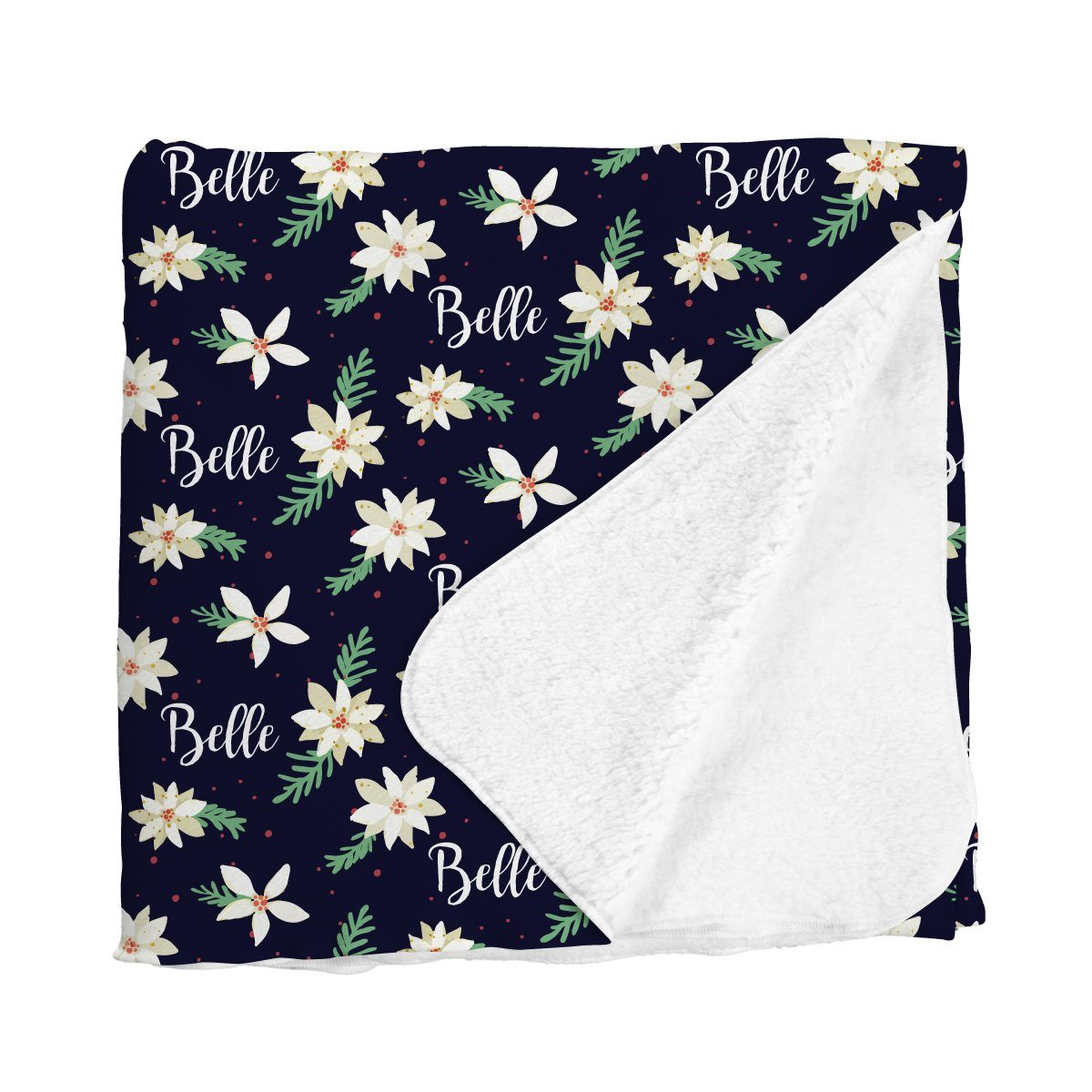 Belle's Holiday Poinsettia | Big Kid Blanket