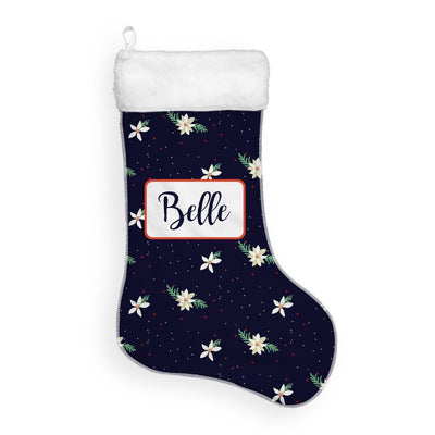 Belle's Holiday Poinsettia | Christmas Stocking