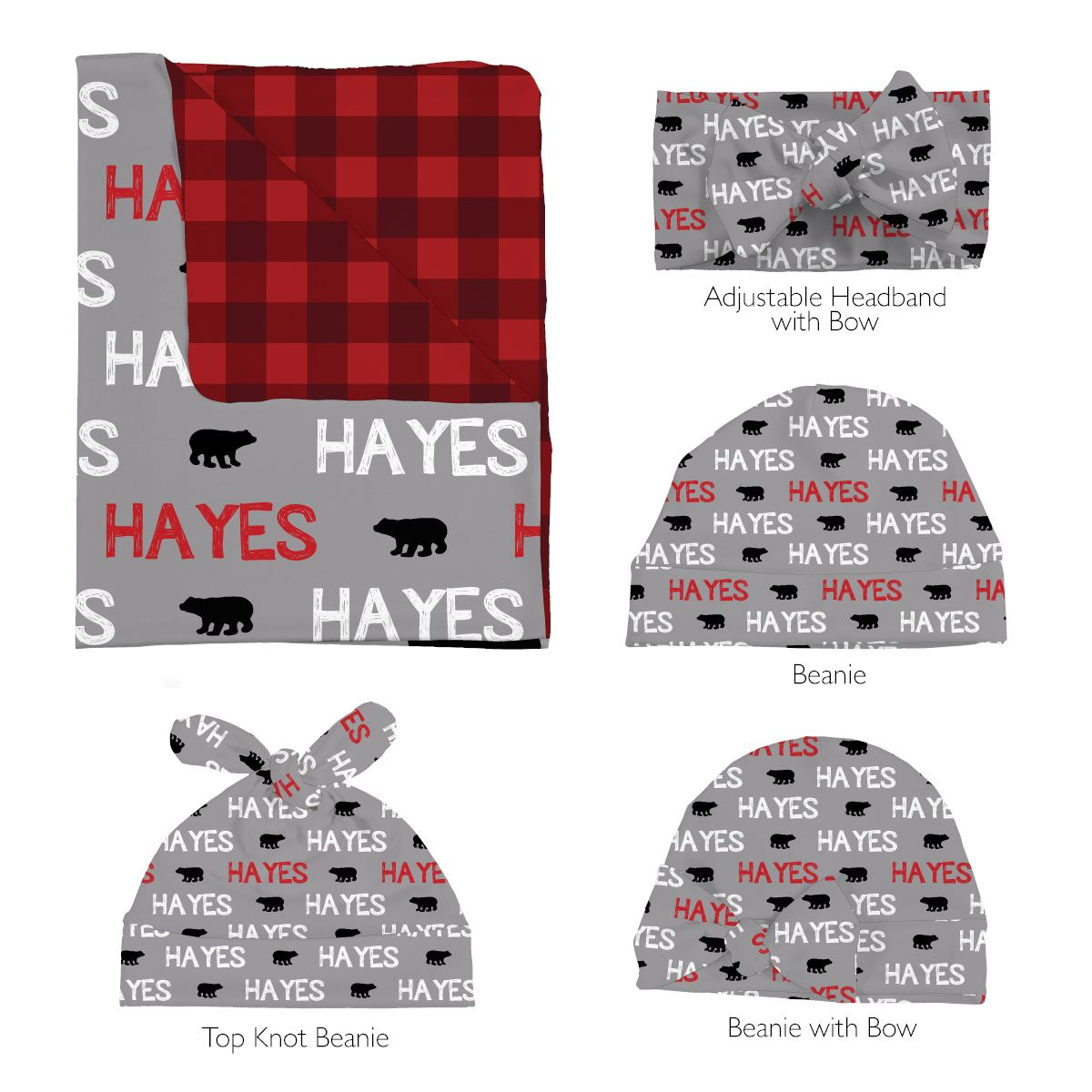 Ben's Brave Bear | Swaddle and Hat Set