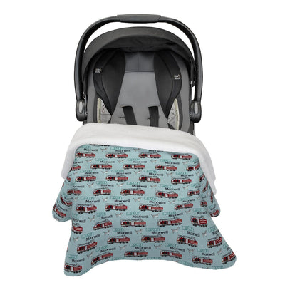 Carson's Fire Engine | Car Seat Blanket