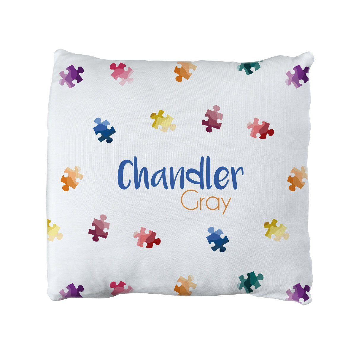Chandler's Puzzle Piece | Big Kid Throw Pillow