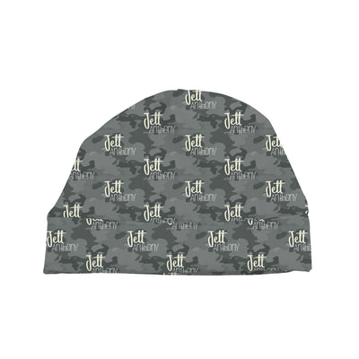 Jett's Graphite Camo | Swaddle and Hat Set