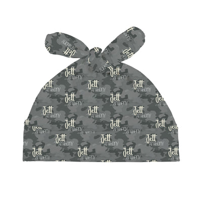 Jett's Graphite Camo| Swaddle and Hat Set