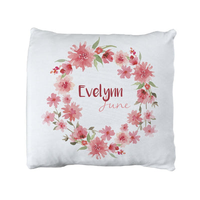 Evelynn's Spring Blossoms | Big Kid Throw Pillow