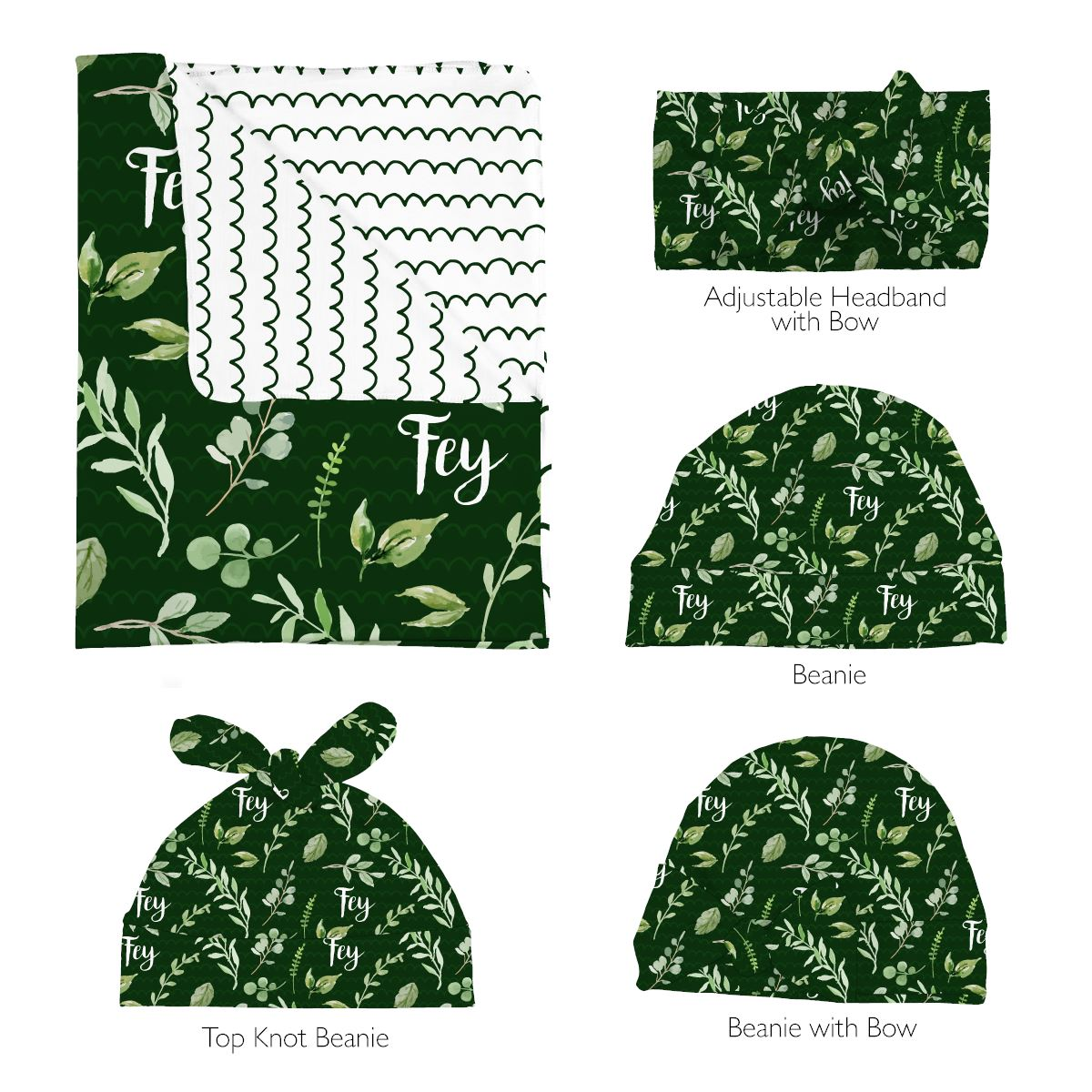 Fey's Fresh Floral | Swaddle and Hat Set