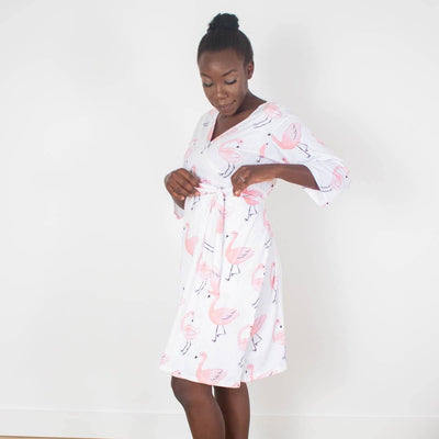 Isla's Fancy Flamingo | Robe
