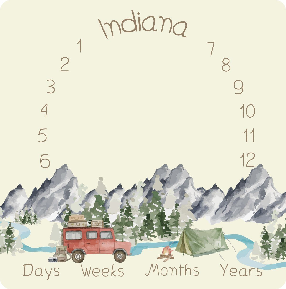 Indiana's Amazing Adventure | Milestone Blanket