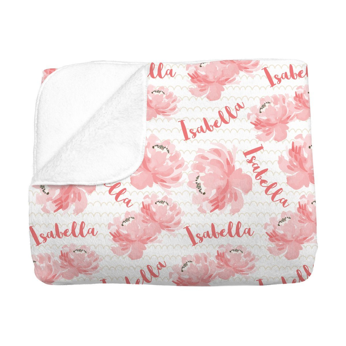 Isabella's Scallops and Peonies | Big Kid Blanket