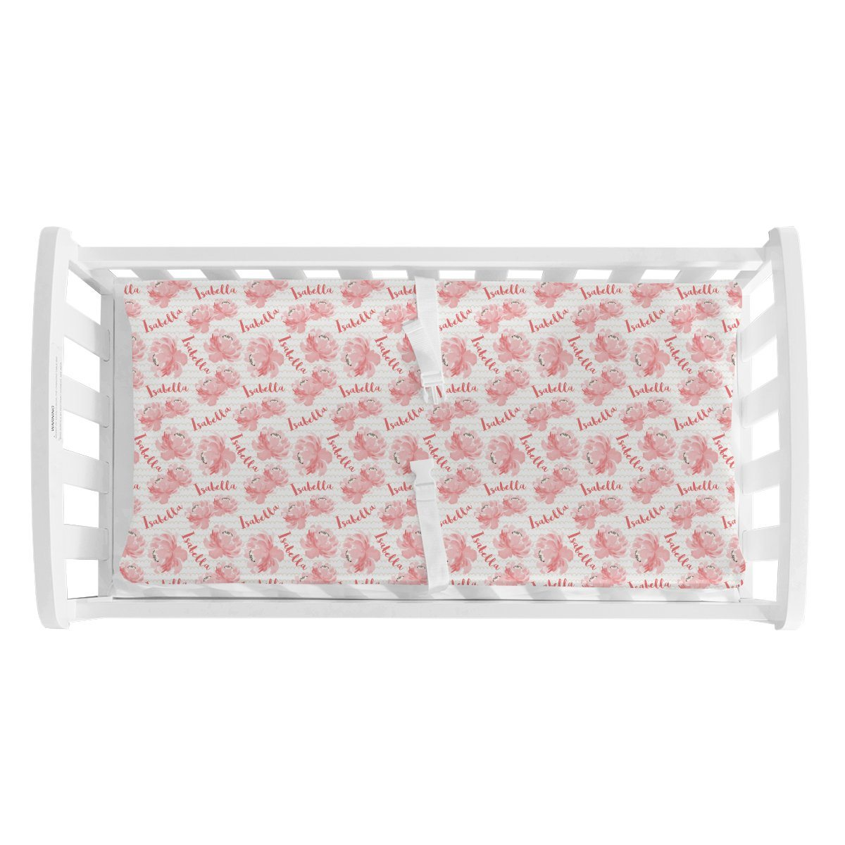 Isabella's Scallops and Peonies | Changing Pad Cover