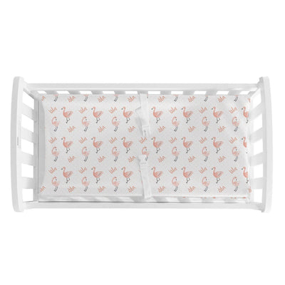 Isla's Fancy Flamingo | Changing Pad Cover