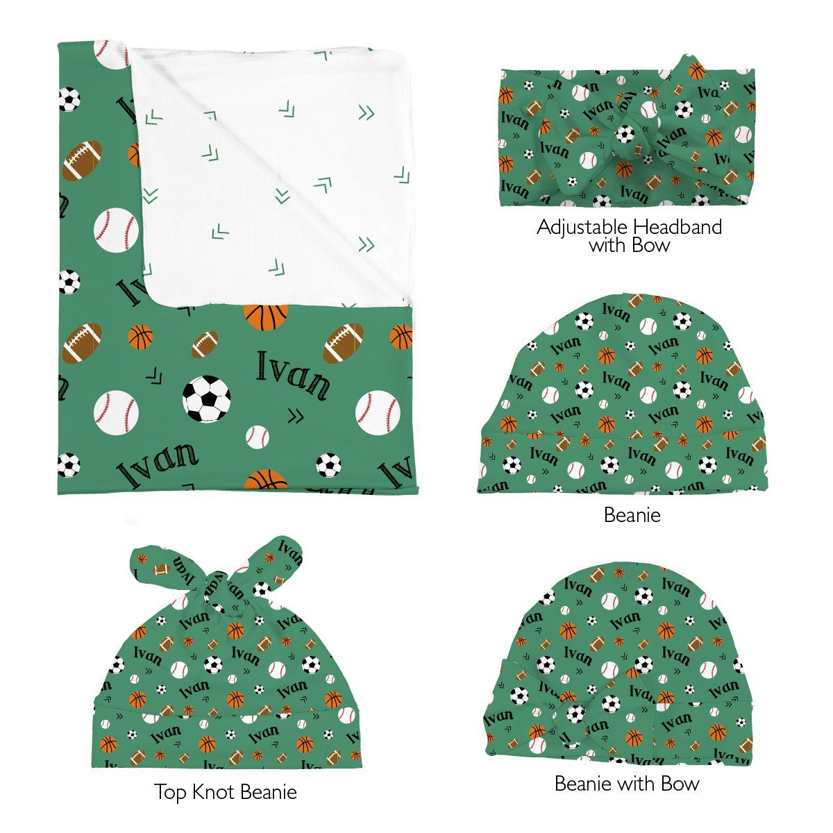 Ivan's Multi Sports | Swaddle and Hat Set