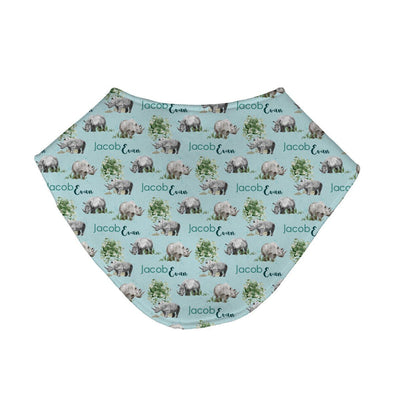 Jacob's Mighty Rhino | Baby Bib