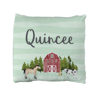 Kristy's Barnyard | Big Kid Throw Pillow