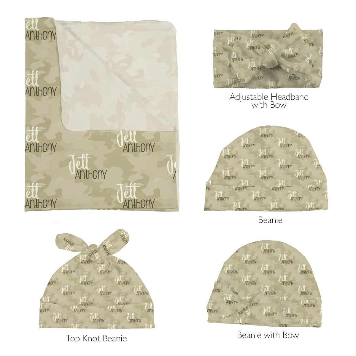 Lance's Desert Camo | Swaddle and Hat Set