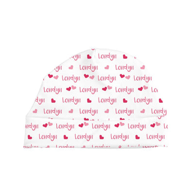 Londyn's Small Hearts | Swaddle and Hat Set