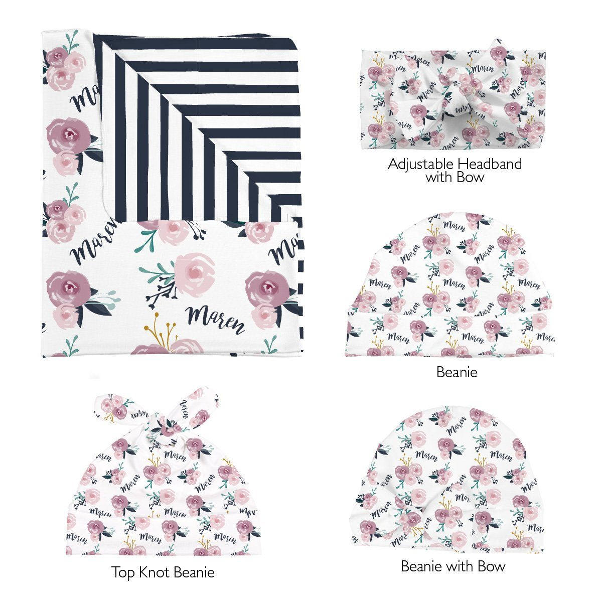 Maren's Enchanted Garden | Swaddle and Hat Set
