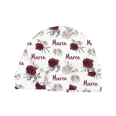 Maren's Winter Floral | Swaddle and Hat Set