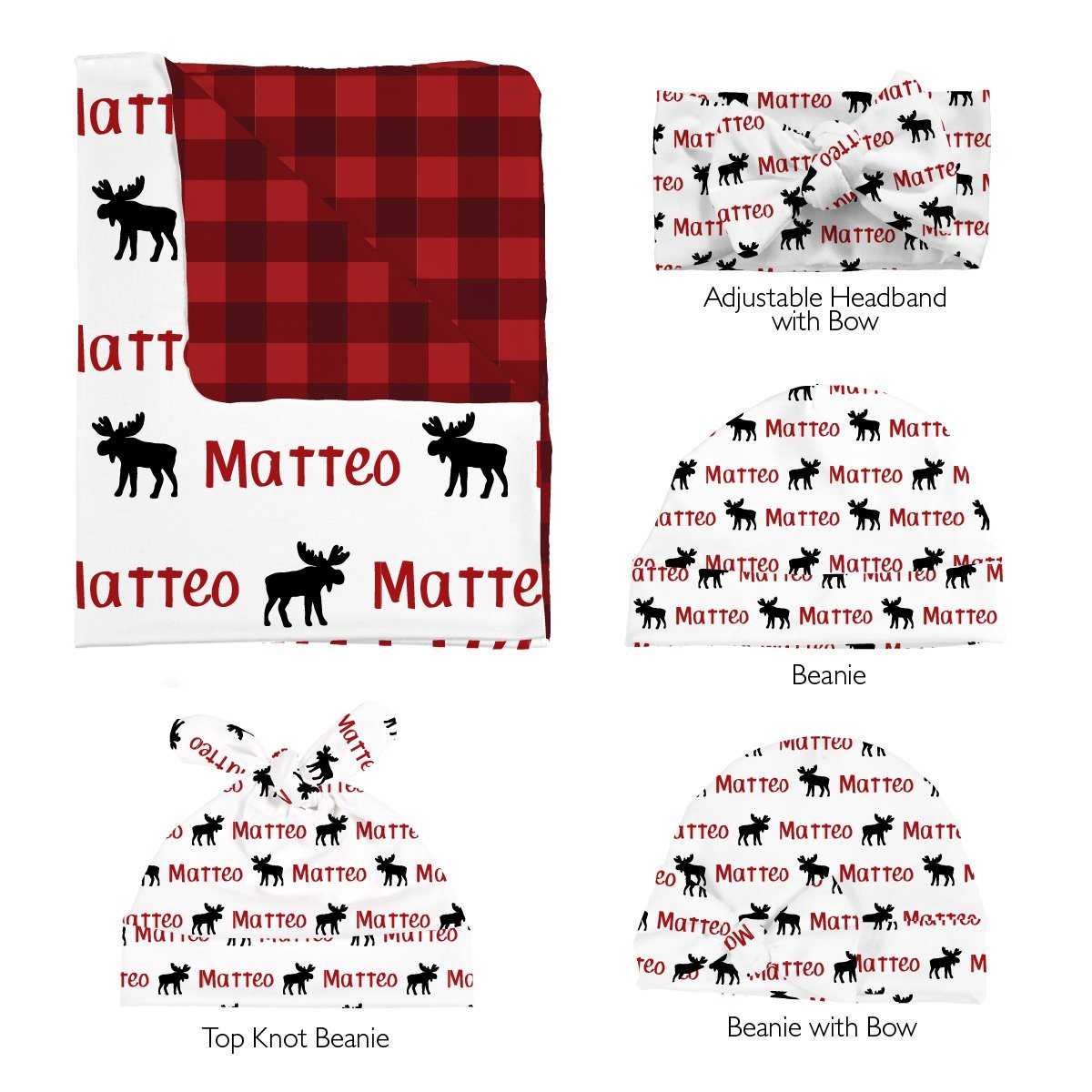 Matteo's Majestic Moose | Swaddle and Hat Set