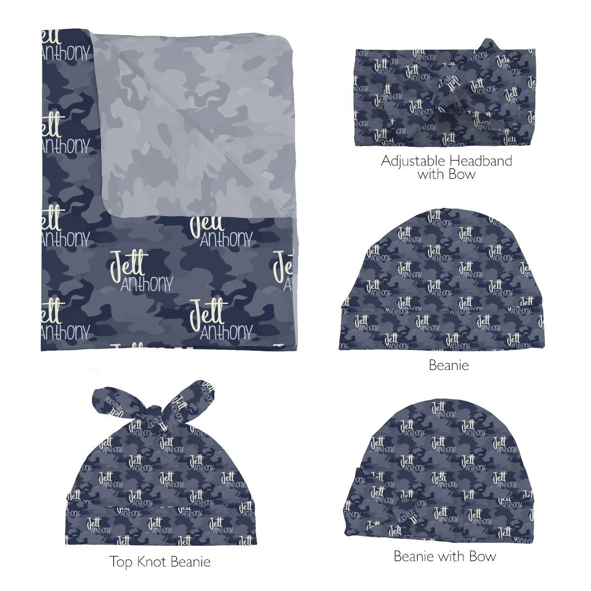 Maverick's High Seas Camo | Swaddle and Hat Set