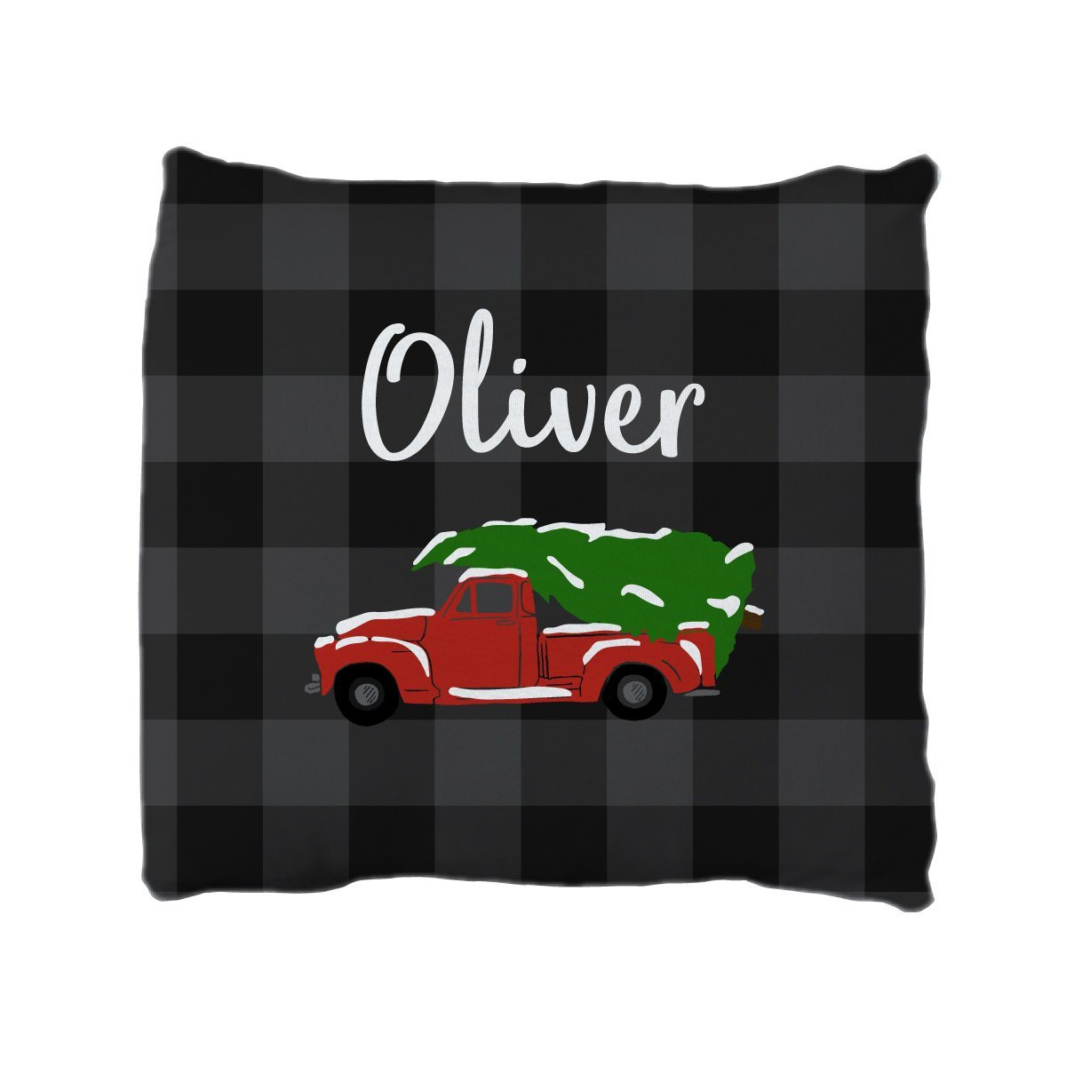 Oliver's Christmas Adventure | Big Kid Throw Pillow