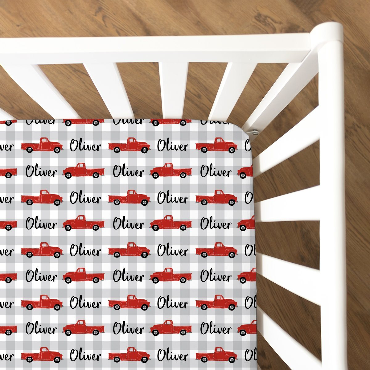 Oliver's Vintage Truck | Fitted Crib Sheet