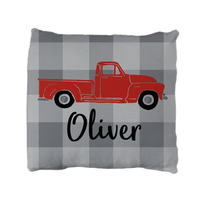 Oliver's Vintage Truck | Big Kid Throw Pillow