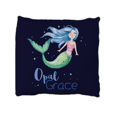 Opal's Mythical Mermaid | Big Kid Throw Pillow