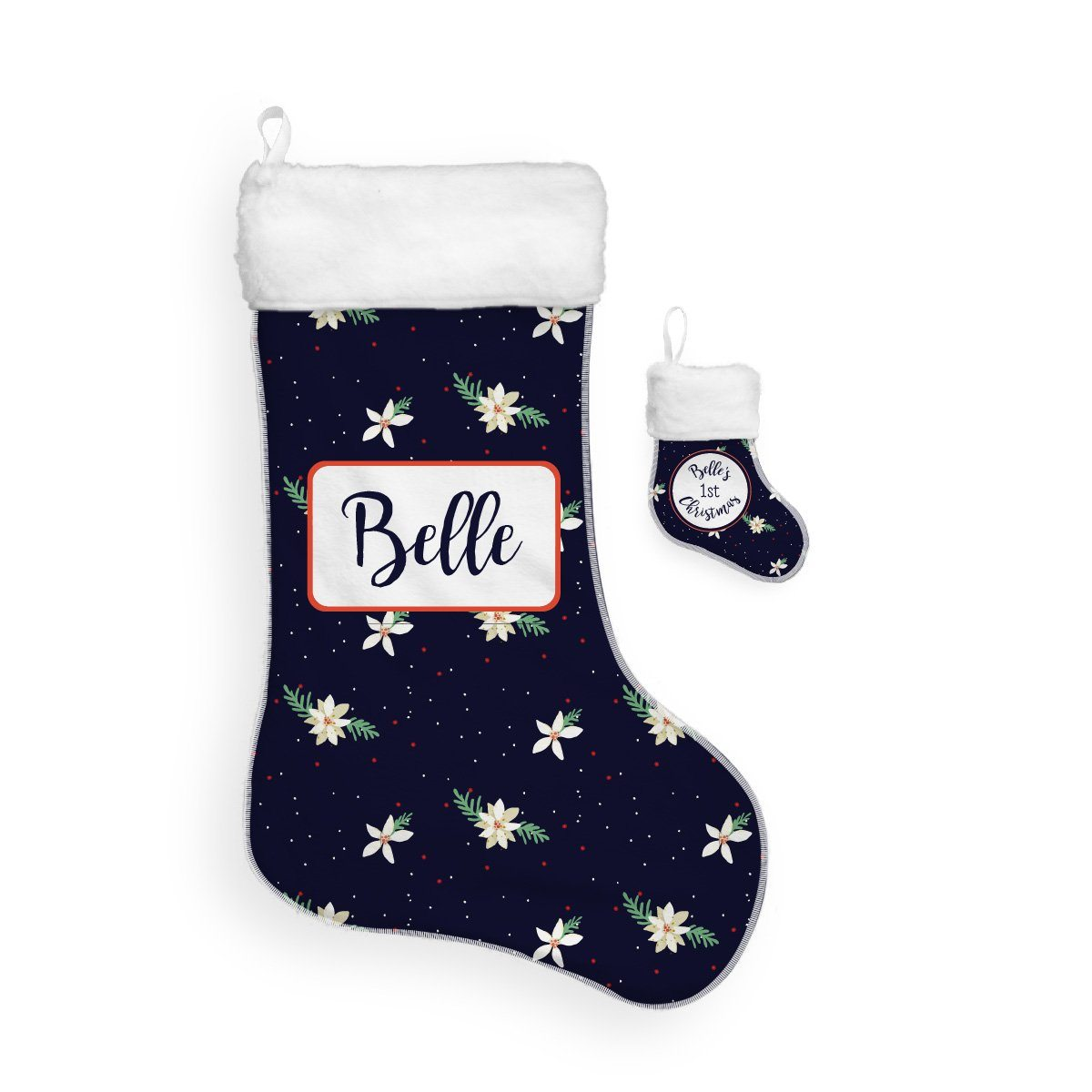 Belle's Holiday Poinsettia | Christmas Stocking Bundle