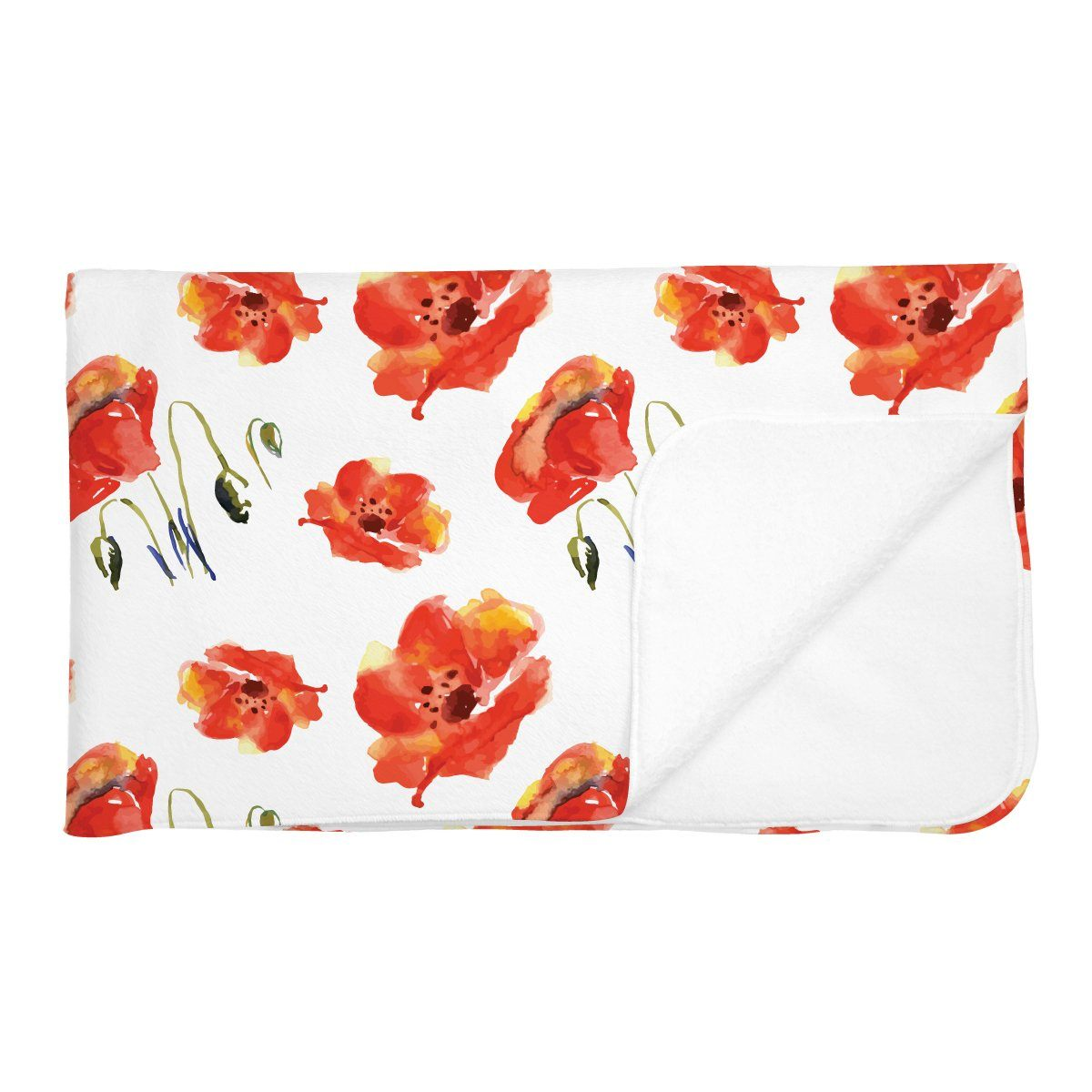 Eleanor's Poppies | Adult Size Blanket
