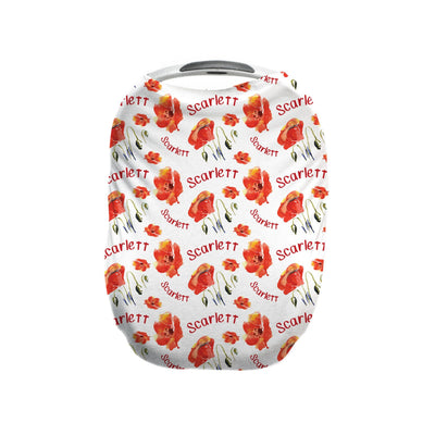 Eleanor's Poppies | Car Seat Cover (Multi-Use)