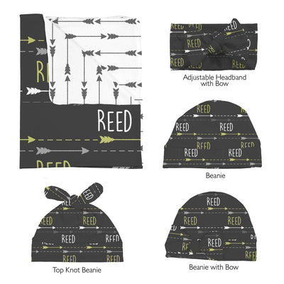 Reed's Chasing Arrows | Swaddle and Hat Set