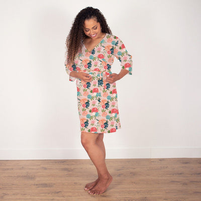 Rosalee's Blush & Blue Floral | Robe