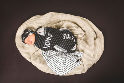 Andre's Misty Sailboat | Swaddle and Hat Set