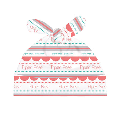 Lilly's Scallop and Dots | Swaddle and Hat Set
