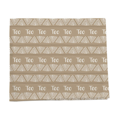 Tribal triangle personalized baby blanket