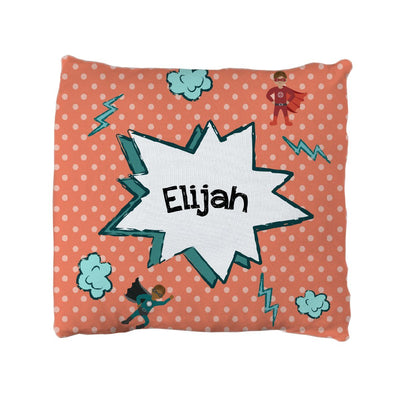 Kayden's Super Heroes | Big Kid Throw Pillow