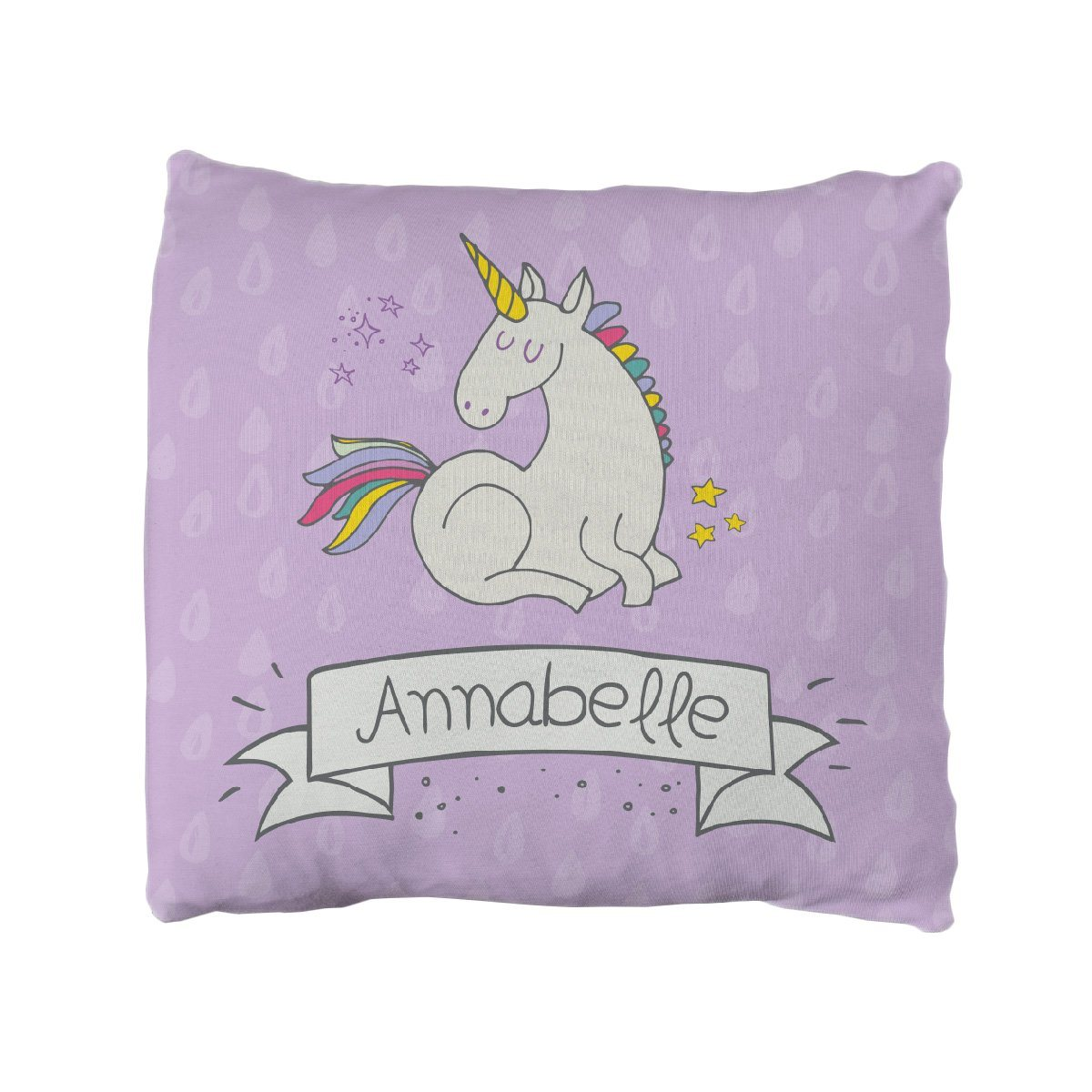 Ember's Unicorn and Rainbows | Big Kid Throw Pillow