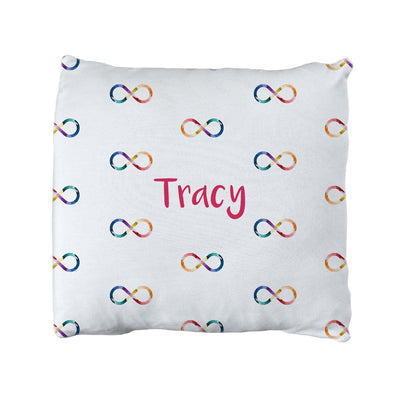 Tracy's Infinity Sign | Big Kid Throw Pillow