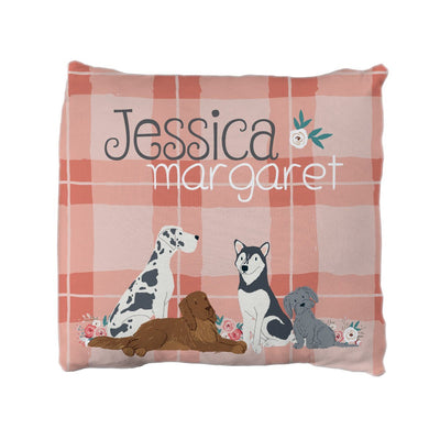 Wren's Pack of Puppies | Big Kid Throw Pillow