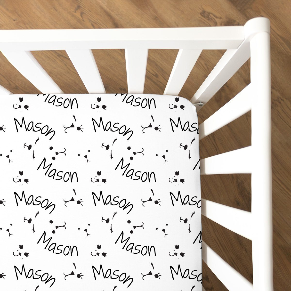 Aaron's Friendly Expressions | Fitted Crib Sheet