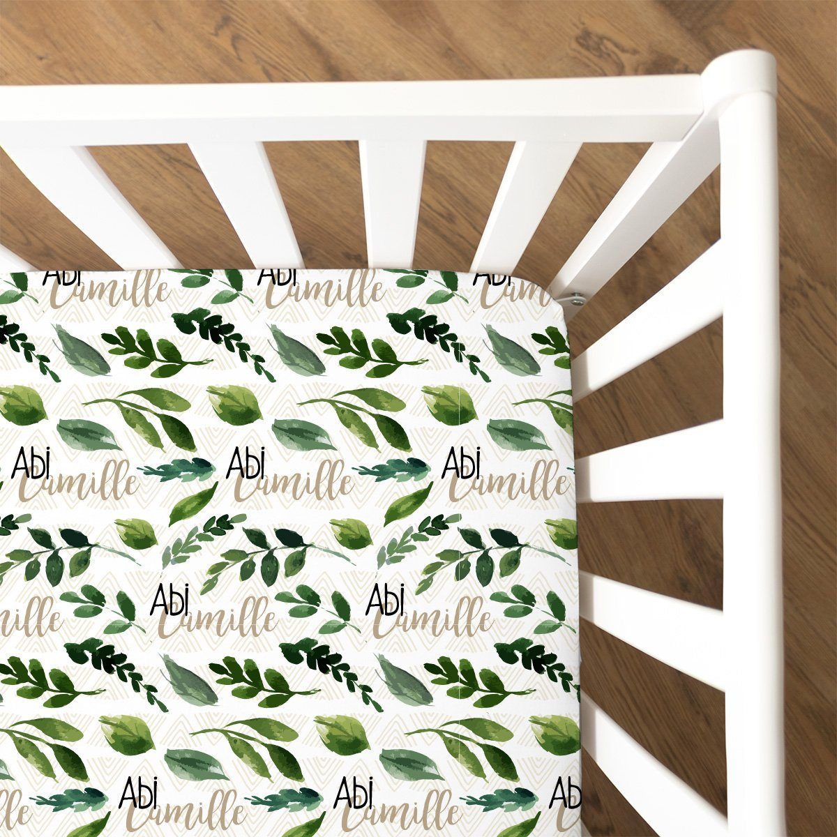 Abi's Sketchy Greenery | Fitted Crib Sheet