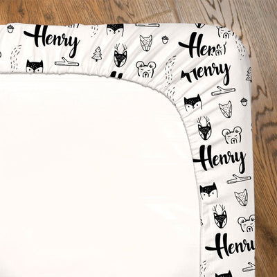 Alan's Woodland Friends | Fitted Crib Sheet