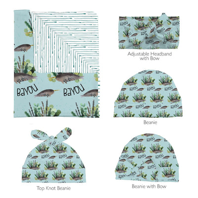 Bayou's Deep Sea Narwhal | Swaddle and Hat Set