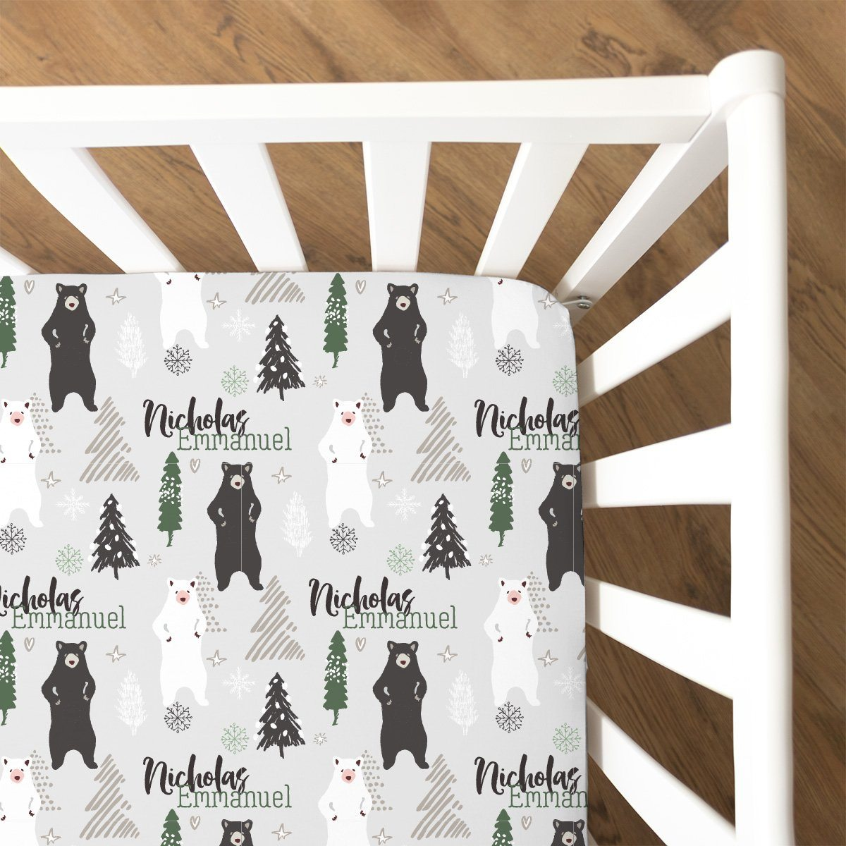 Brian's Winter Woodland | Fitted Crib Sheet