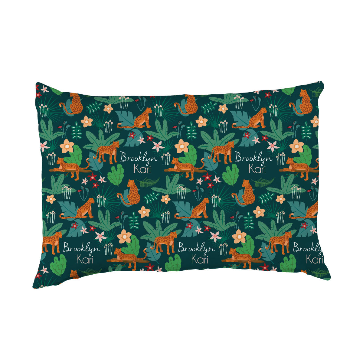 Brooklyn's Jungle Cats | Big Kid Pillow Case