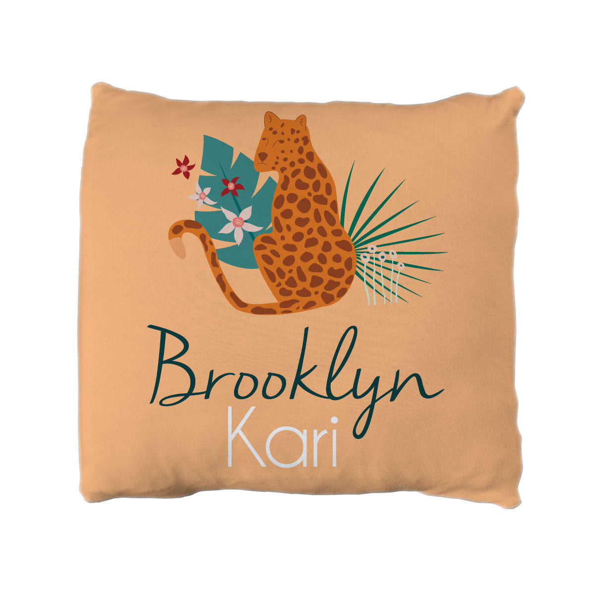 Brooklyn's Jungle Cats | Big Kid Throw Pillow